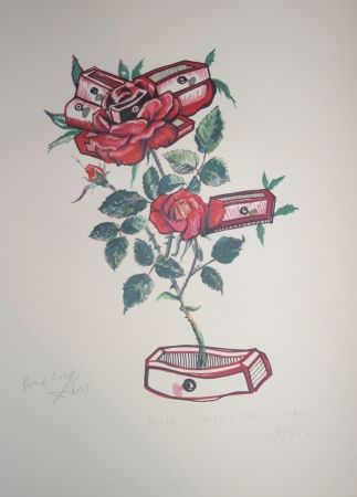 Lithograph Dali - Roses of Memory (surrealistic flowers)