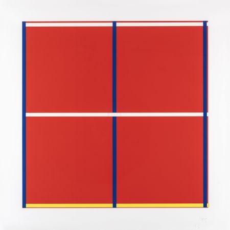 Screenprint Knoebel - Rot, Gelb, Weiss, Blau 01