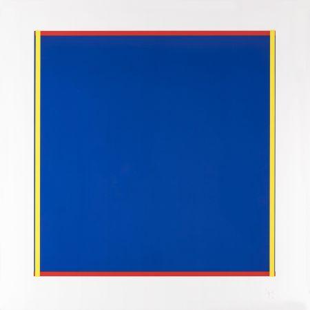 Screenprint Knoebel - Rot, Gelb, Weiss, Blau 02