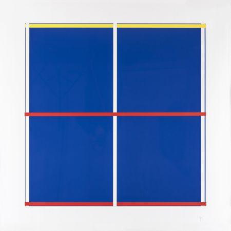 Screenprint Knoebel - Rot, Gelb, Weiss, Blau 03