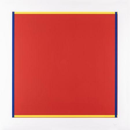 Screenprint Knoebel - Rot, Gelb, Weiss, Blau 04
