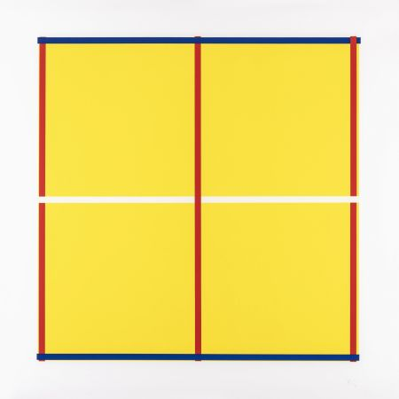 Screenprint Knoebel - Rot, Gelb, Weiss, Blau 05