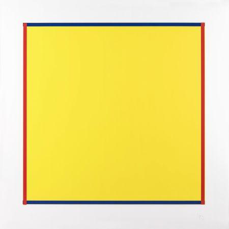 Screenprint Knoebel - Rot, Gelb, Weiss, Blau 06
