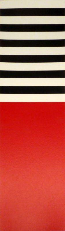 Screenprint Nemours - Rot – weiss – schwarz