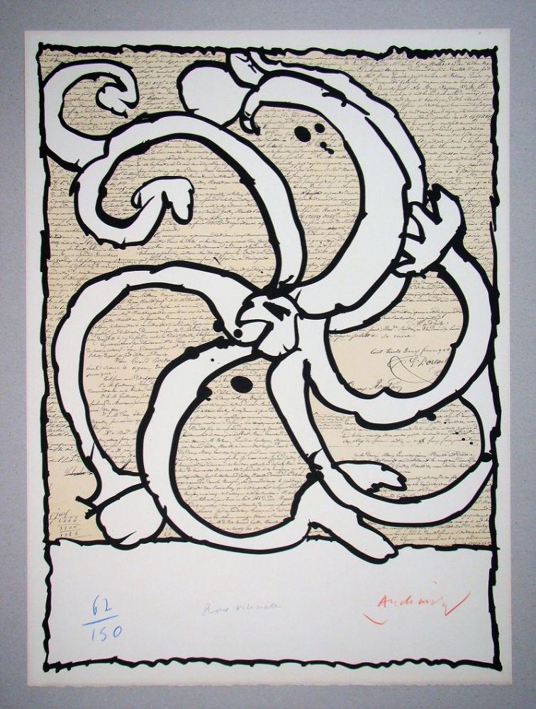 Lithograph Alechinsky - Roue vicinale