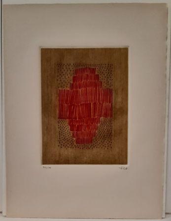 Etching Piza - Rouge en croix