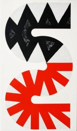 Lithograph Sugai - Rouge et noir