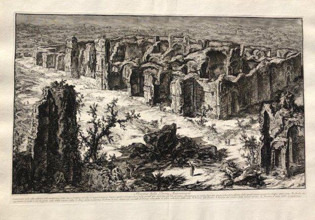 Engraving Piranesi - Rovine delle terme antoniane