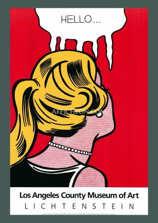 Lithograph Lichtenstein - Roy Lichtenstein 'Cold Shoulder' 1987 Original Pop Art Poster with COA