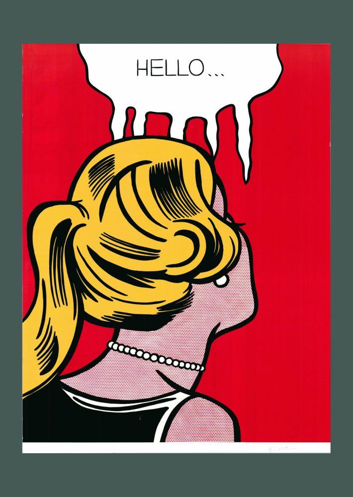 Lithograph Lichtenstein - Roy Lichtenstein 'Cold Shoulder', Original Pop Art Poster, Hand Signed, 1987
