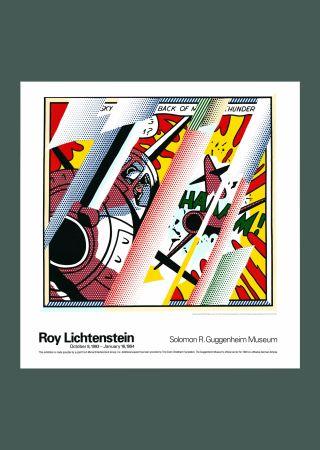 Lithograph Lichtenstein - Roy Lichtenstein 'Reflections: Whaam!' 1993 Original Pop Art Poster