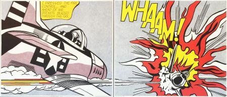 Lithograph Lichtenstein - Roy Lichtenstein 'WHAAM!' 1986 Original Pop Art Diptych Poster Set