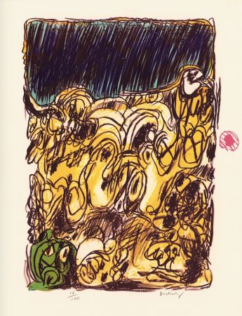 Lithograph Alechinsky - Ruée