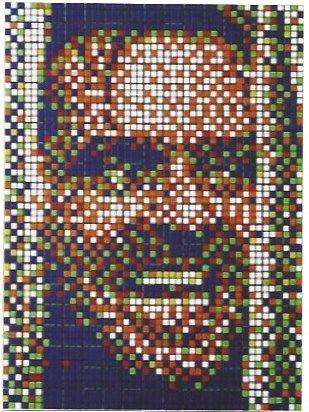 Screenprint Space Invader - Rubik Kubrick II