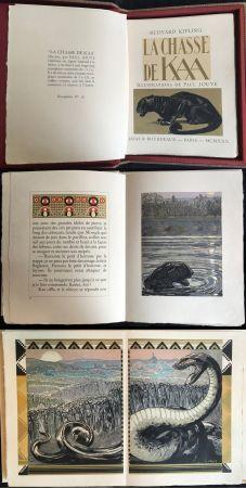 Illustrated Book Jouve - Rudyard Kipling : LA CHASSE DE KAA. Illustrations de Paul Jouve (1930)