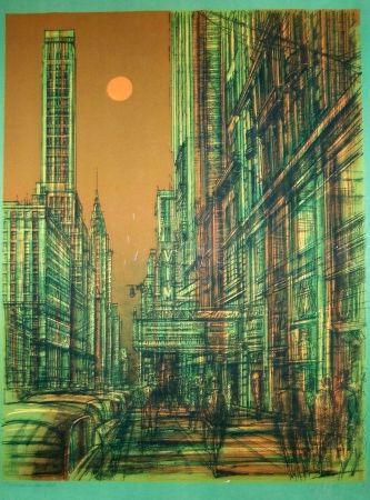 Lithograph Carzou - Rue à new-york