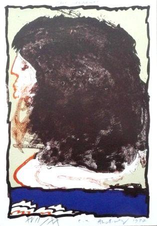 Lithograph Alechinsky - Rue Serpente