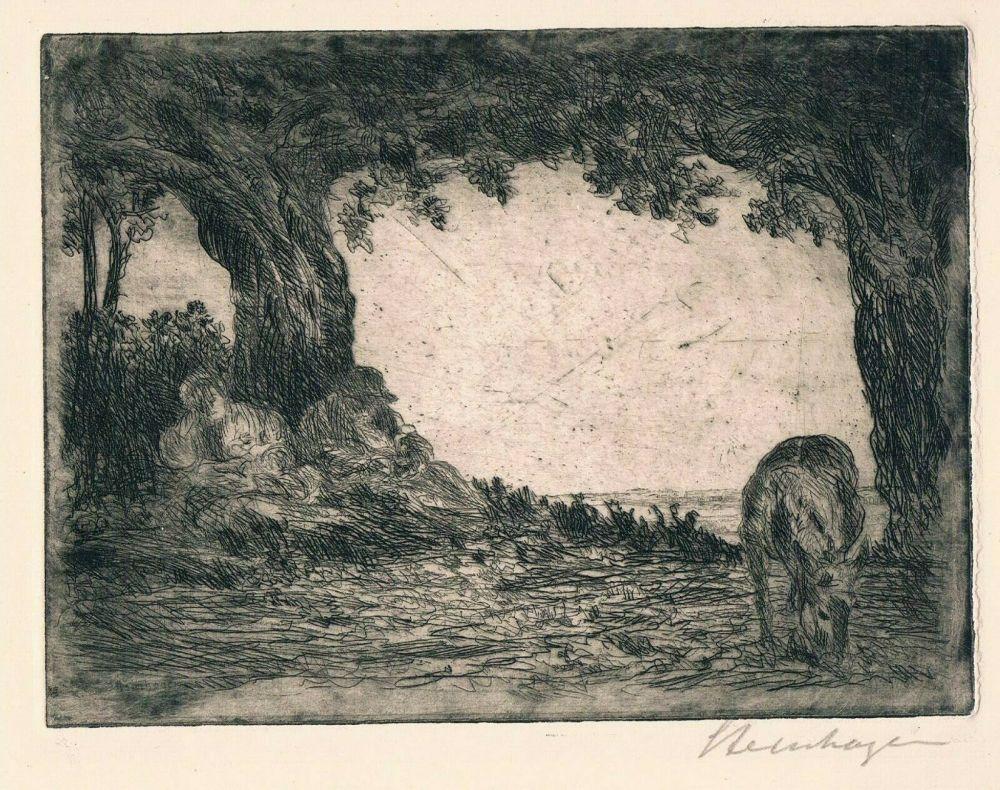 Etching Steinhagen - Ruhe auf der Flucht