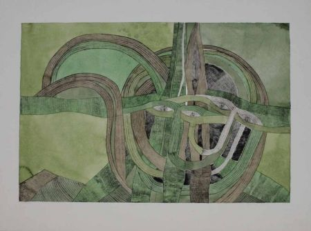 Etching And Aquatint Pyroth - Runde Masken, Kral