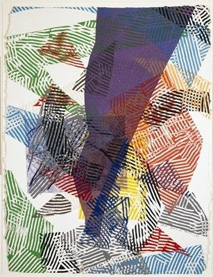 Woodcut Gilliam - Running Naked I