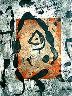 Etching Miró - Rupestres
