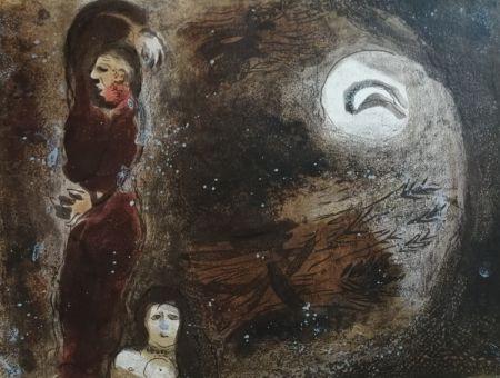 Lithograph Chagall - Ruth aux pieds de Booz
