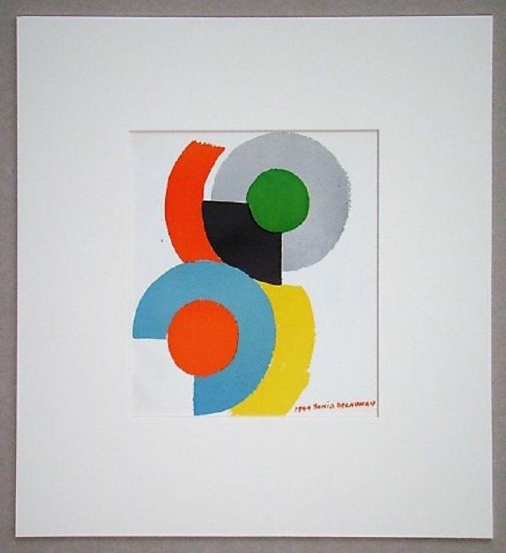 Lithograph Delaunay - Rythmes circulaires, 1949