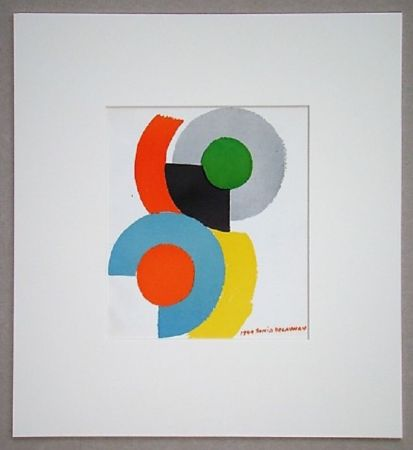 Lithograph Delaunay - Rythmes circulaires, 1949