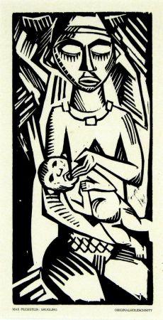 Woodcut Pechstein - Säugling (Infant)