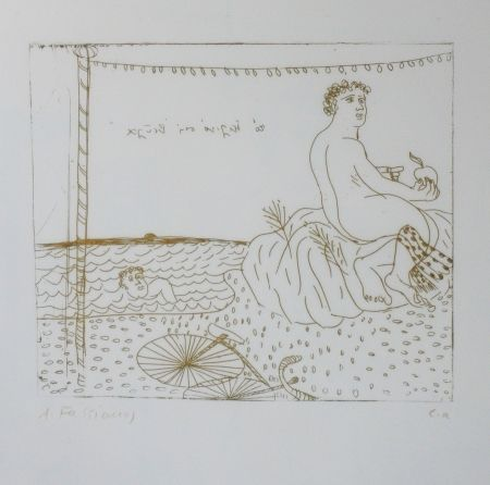 Drypoint Fassianos - Séchage au soleil