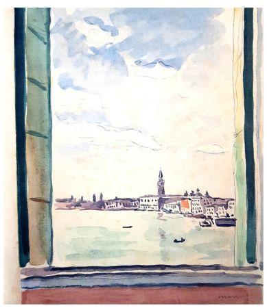 Lithograph Marquet - Séjour à Venise