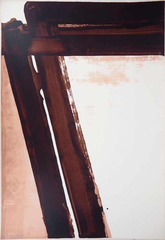Screenprint Soulages - Sérigraphie n°15