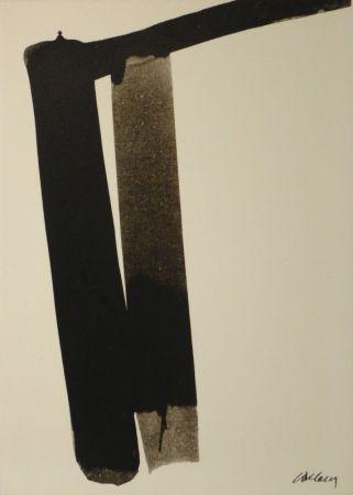 Screenprint Soulages - Sérigraphie no 13
