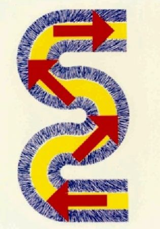 Lithograph Sugai - S (Flèches rouges)