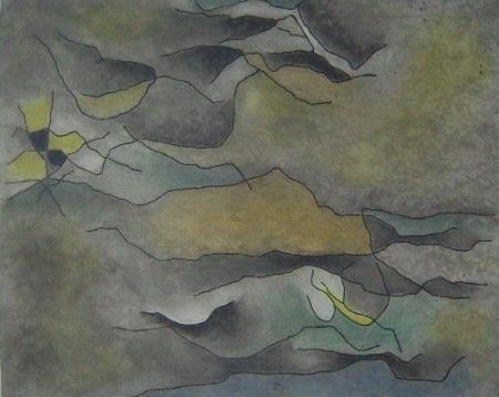 Aquatint Singier - Sable et Eau