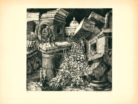 Etching And Aquatint Ackermann - Sacco di Roma