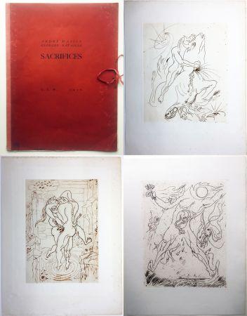 Engraving Masson - SACRIFICES avec un texte de Georges Bataille (GLM 1936).