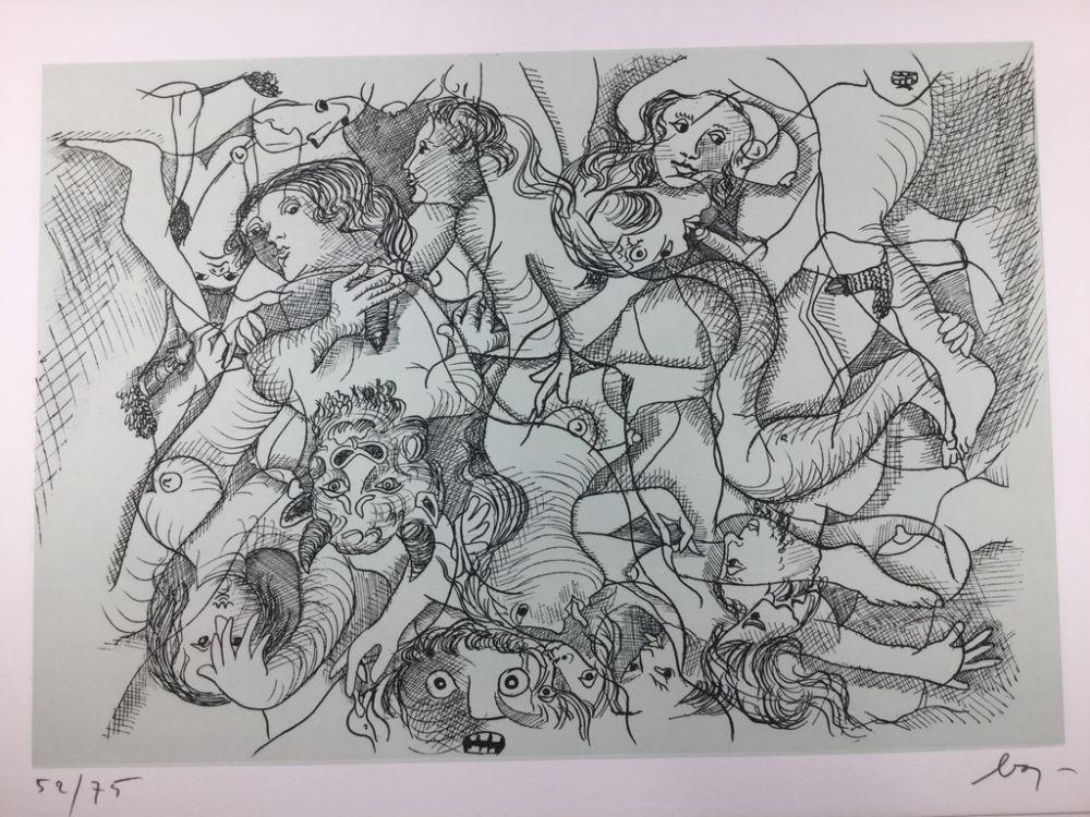 Engraving Baj - Sade in Italy - complete folder ( 8 erotic etchings )