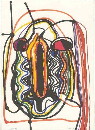 Lithograph Burri - Saffo