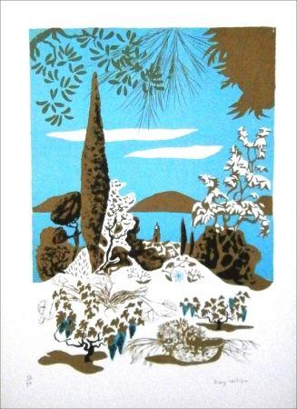 Lithograph Lartigue - Saint-Tropez (paysage)