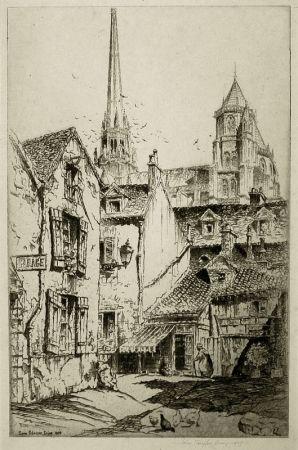 Etching Arms - Saint Benigne, Dijon
