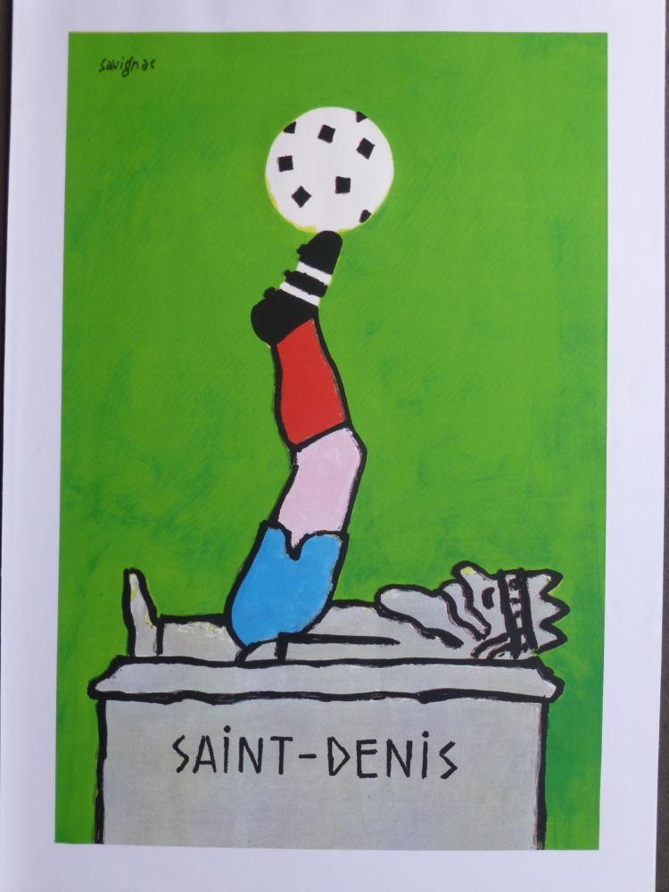 Poster Savignac - Saint Denis (coupe du monde de football) 1998