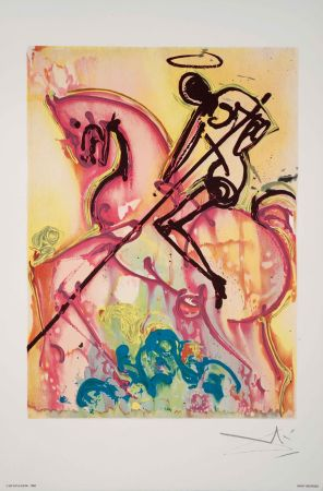 Lithograph Dali - Saint Georges Et Le Dragon