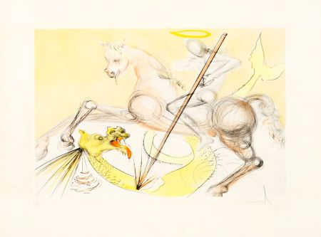 Engraving Dali - Saint Georges et le Dragon