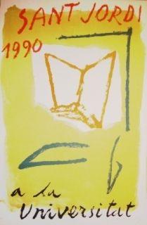 Lithograph Ràfols Casamada - Saint Jordi 1990