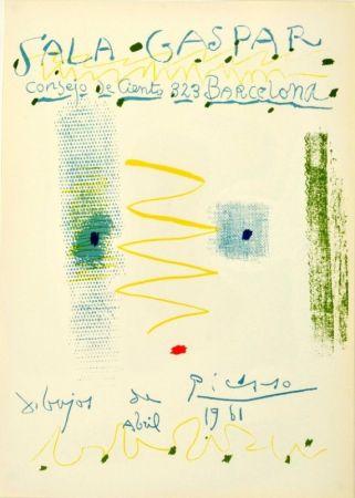 Lithograph Picasso - Sala Gaspar. Dibujos de Picasso