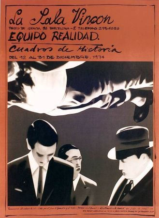 Poster Equipo Realidad - Sala Vinçon - 1973