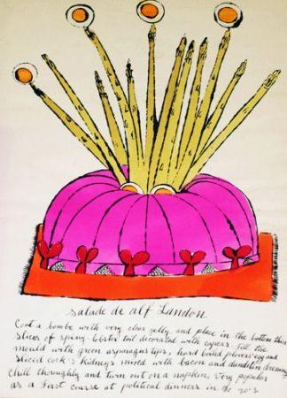 Lithograph Warhol - Salade de Alf Landon