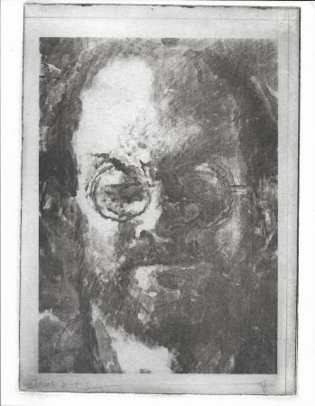 Lithograph Phillips - Salman Rushdie