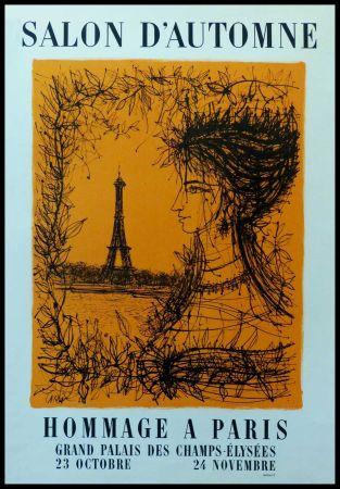Poster Carzou - SALON D'AUTOMNE HOMMAGE À PARIS